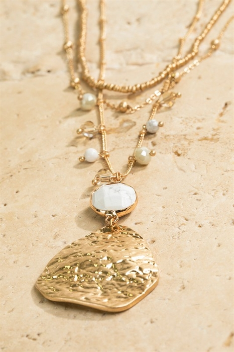 Picture of Layered Hammered Metal Necklace